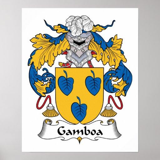 Escudo de la familia de Gamboa Impresiones
