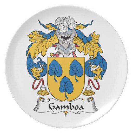 Escudo de la familia de Gamboa Plato De Cena
