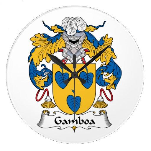 Escudo de la familia de Gamboa Relojes
