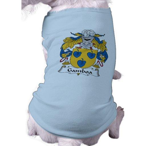 Escudo de la familia de Gamboa Ropa Para Mascota