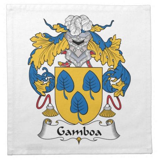 Escudo de la familia de Gamboa Servilleta