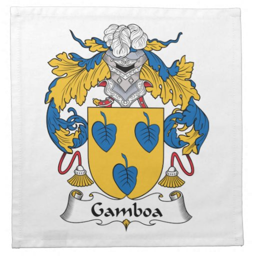 Escudo de la familia de Gamboa Servilletas