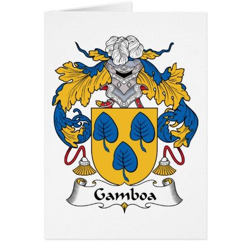 Escudo de la familia de Gamboa Felicitaciones