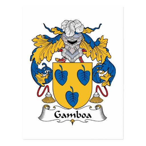 Escudo de la familia de Gamboa Postal