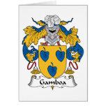 Escudo de la familia de Gamboa Tarjetón