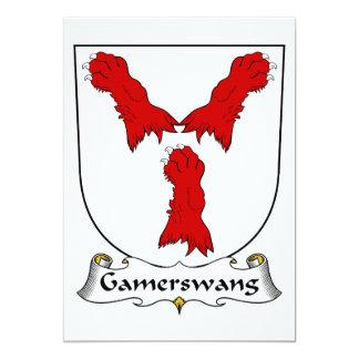 Escudo de la familia de Gamerswang Invitación 12,7 X 17,8 Cm