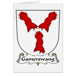 Escudo de la familia de Gamerswang Tarjeta