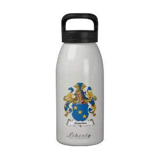 Escudo de la familia de Gamm Botella De Agua