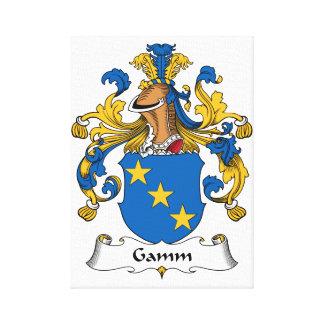 Escudo de la familia de Gamm Lona Estirada Galerias