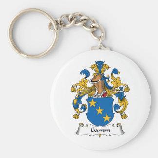Escudo de la familia de Gamm Llaveros Personalizados