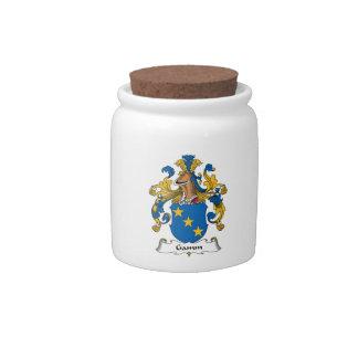 Escudo de la familia de Gamm Platos Para Caramelos