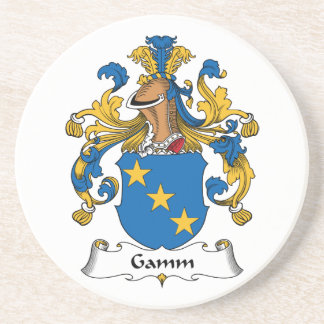 Escudo de la familia de Gamm Posavasos Para Bebidas