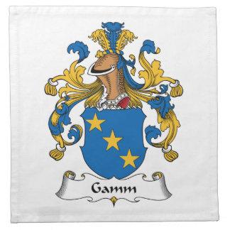 Escudo de la familia de Gamm Servilleta De Papel