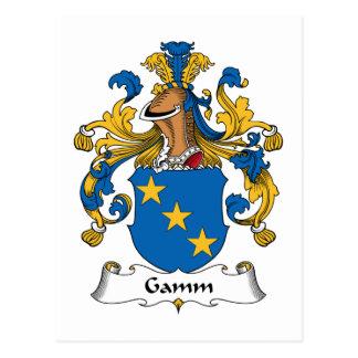 Escudo de la familia de Gamm Tarjetas Postales