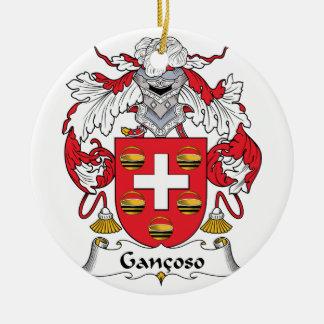 Escudo de la familia de Gancoso Adorno Redondo De Cerámica