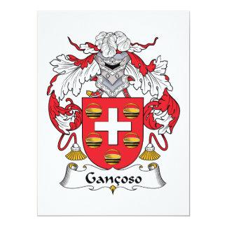 """Escudo de la familia de Gancoso Invitación 6.5"""" X 8.75"""""""