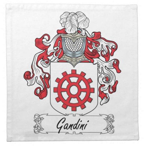 Escudo de la familia de Gandini Servilletas De Papel