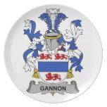 Escudo de la familia de Gannon Platos Para Fiestas