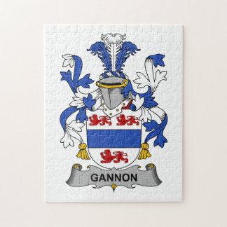 Escudo de la familia de Gannon Puzzle Con Fotos