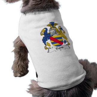 Escudo de la familia de Gant Camisetas Mascota