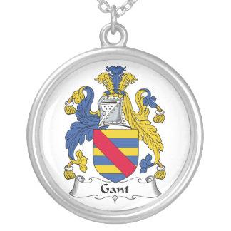 Escudo de la familia de Gant Collar Plateado
