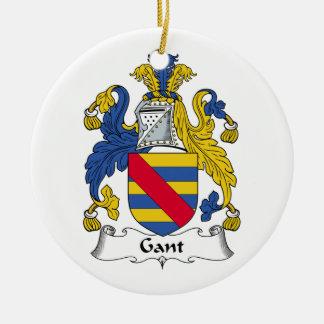 Escudo de la familia de Gant Adorno Redondo De Cerámica