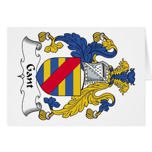 Escudo de la familia de Gant Felicitacion