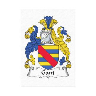 Escudo de la familia de Gant Impresión En Lienzo Estirada