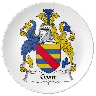 Escudo de la familia de Gant Plato De Cerámica
