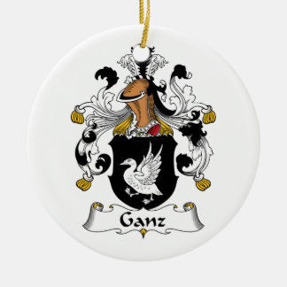 Escudo de la familia de Ganz Ornamento De Reyes Magos