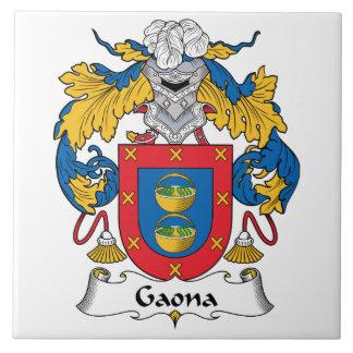 Escudo de la familia de Gaona Azulejos Ceramicos