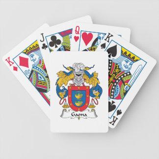 Escudo de la familia de Gaona Baraja Cartas De Poker