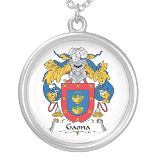 Escudo de la familia de Gaona Colgante Personalizado