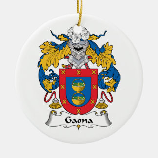 Escudo de la familia de Gaona Adorno Redondo De Cerámica