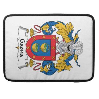 Escudo de la familia de Gaona Fundas Macbook Pro