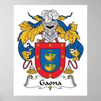 Escudo de la familia de Gaona Impresiones
