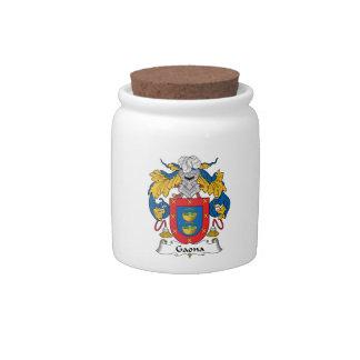 Escudo de la familia de Gaona Jarra Para Caramelo