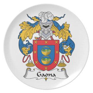 Escudo de la familia de Gaona Platos De Comidas