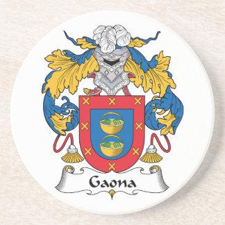 Escudo de la familia de Gaona Posavasos Personalizados