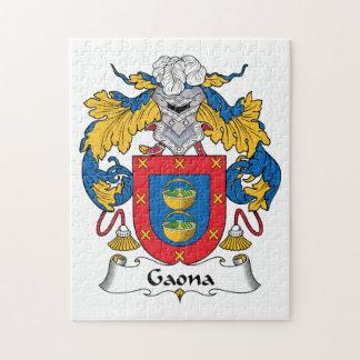 Escudo de la familia de Gaona Puzzles Con Fotos