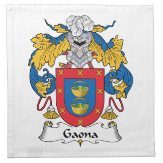Escudo de la familia de Gaona Servilletas