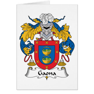 Escudo de la familia de Gaona Tarjeta