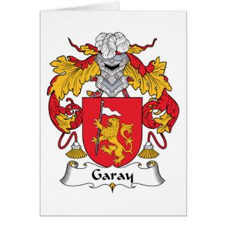 Escudo de la familia de Garay Tarjeta De Felicitación