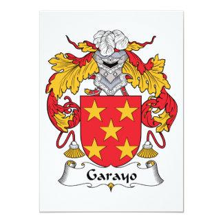 """Escudo de la familia de Garayo Invitación 5"""" X 7"""""""