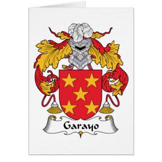 Escudo de la familia de Garayo Tarjeta De Felicitación