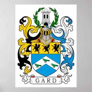 Escudo de la familia de Gard Póster
