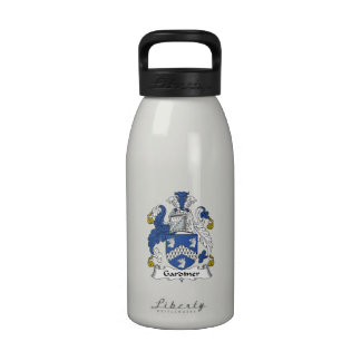 Escudo de la familia de Gardiner Botella De Agua