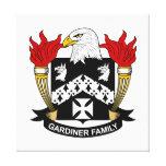 Escudo de la familia de Gardiner Lienzo Envuelto Para Galerias