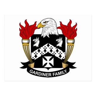 Escudo de la familia de Gardiner Postal
