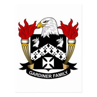 Escudo de la familia de Gardiner Tarjetas Postales
